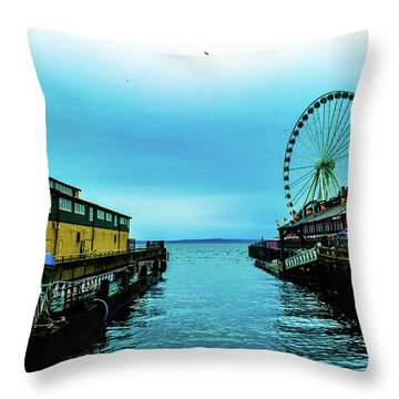 Sea Side, Seattle 2 Throw Pillow