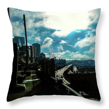 Sea Side, Seattle  Throw Pillow