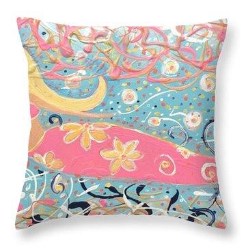 Sea Siren Blondie Throw Pillow