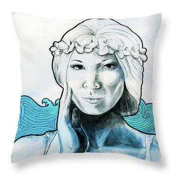 Sea Siren Throw Pillow