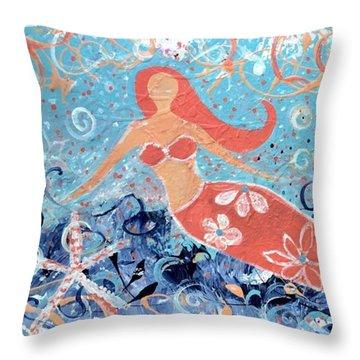 Sea Siren Throw Pillow