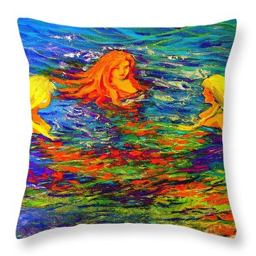 Sea Sisters Revisited Throw Pillow