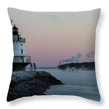 Sea Smoke Throw Pillow