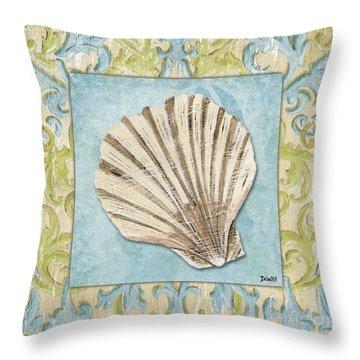 Sea Spa Bath 1 Throw Pillow by Debbie DeWitt