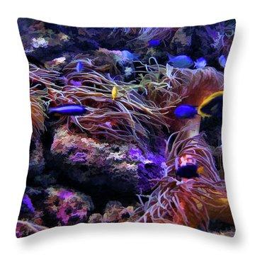 Sea Spaghetti  Throw Pillow