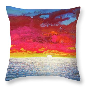 Throw Pillow featuring the painting Sea Splendor by Mary Ellen Frazee