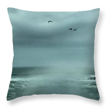 Sea Spray Throw Pillow