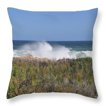 Sea Spray Throw Pillow by Linda Ferreira
