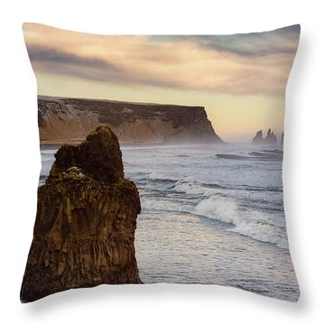 Sea Stack II Throw Pillow