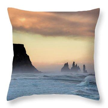 Sea Stacks Throw Pillow by Allen Biedrzycki