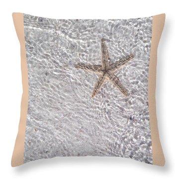 Throw Pillow featuring the photograph Sea Star 11 Anna Maria Island by Jean Marie Maggi