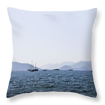 Sea Stroll Throw Pillow by Svetlana Sewell