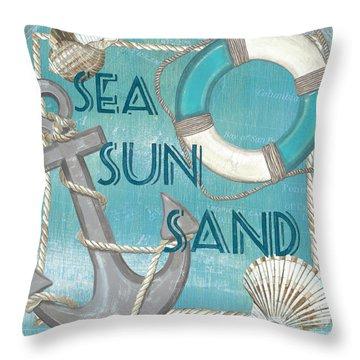 Sea Sun Sand Throw Pillow