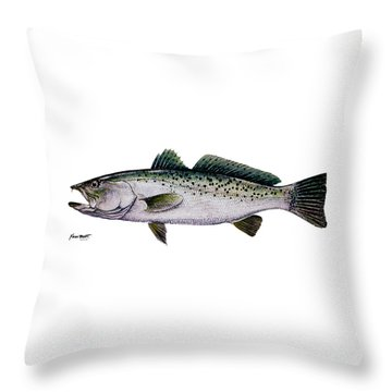 Sea Trout Throw Pillow