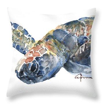 Sea Turtle 1  Throw Pillow