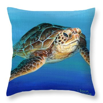 Sea Turtle 1 Of 3 Throw Pillow