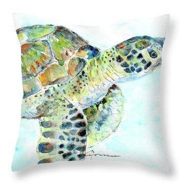 Sea Turtle 11 Throw Pillow
