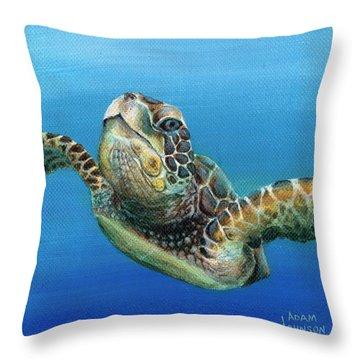 Sea Turtle 3 Of 3 Throw Pillow