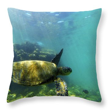 Throw Pillow featuring the photograph Sea Turtle #5 by Anthony Jones