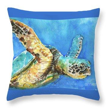 Sea Turtle 6 - 10x6.5 Throw Pillow