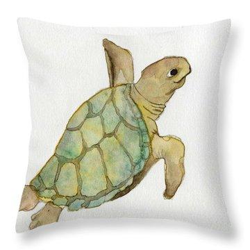 Sea Turtle Throw Pillow by Annemeet Hasidi- van der Leij