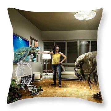Sea Turtle Art Throw Pillow by Marvin Blaine