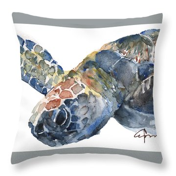 Sea Turtle - Large Size Throw Pillow