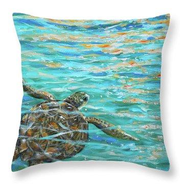 Sea Turtle Dream Throw Pillow