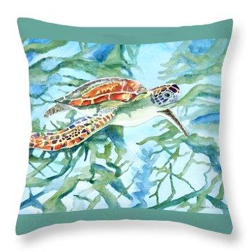 Sea Turtle Series #1 Throw Pillow