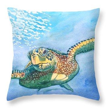 Sea Turtle Series #2 Throw Pillow