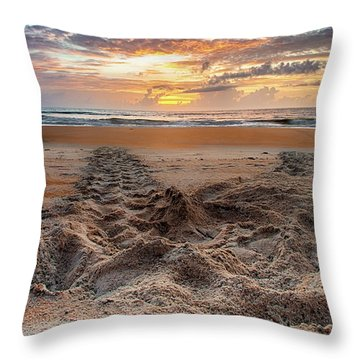 Sea Turtle Trails Throw Pillow