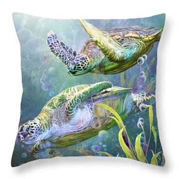 Sea Turtles - Ancient Travelers Throw Pillow