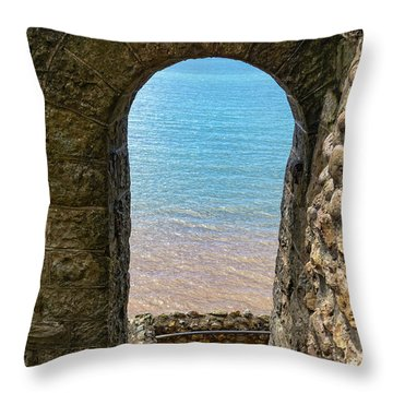 Throw Pillow featuring the photograph Sea View Arch by Scott Carruthers