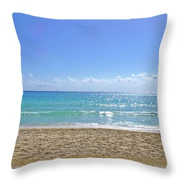 Throw Pillow featuring the photograph Sea View M2 by Francesca Mackenney