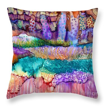 Sea Wall Throw Pillow