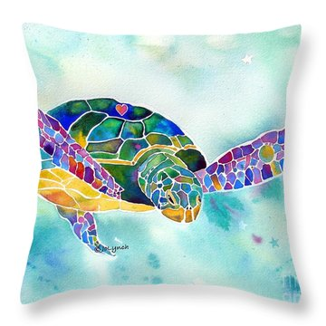 Sea Weed Sea Turtle  Throw Pillow