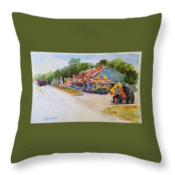 Seaberry Surf Gifts, Wellfleet Throw Pillow by Peter Salwen