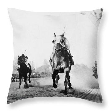 Thoroughbred Race Horse Throw Pillows