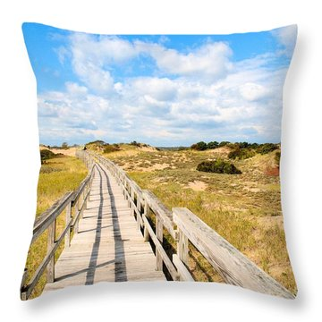 Seabound Boardwalk Throw Pillow