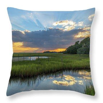 Seabrook Island Sunrays Throw Pillow