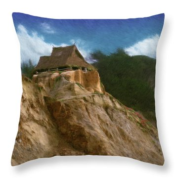 Seacliff House Throw Pillow