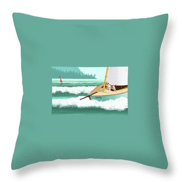 Seadog Throw Pillow