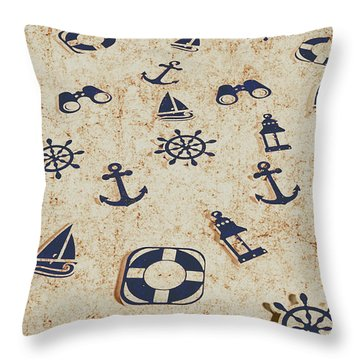 Seafaring Antiques Throw Pillow