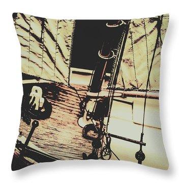 Seafaring Sails Throw Pillow