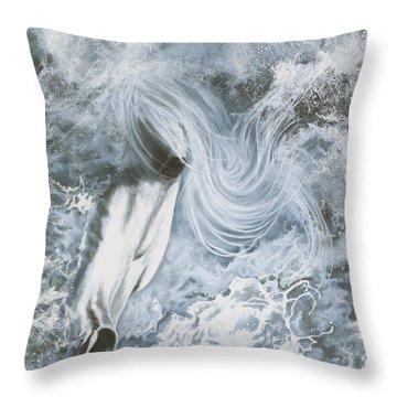 Seafoam Throw Pillow