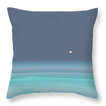 Seafoam Moonrise Throw Pillow