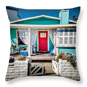 Throw Pillow featuring the photograph Seafoam Shanty by T Brian Jones