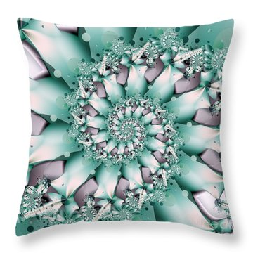 Seafoam Spring Throw Pillow by Michelle H