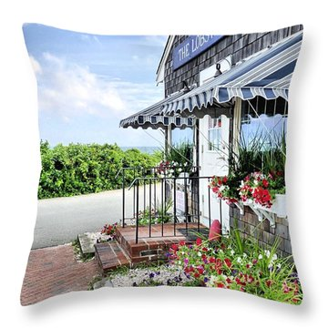 Seafood For Sale Throw Pillow