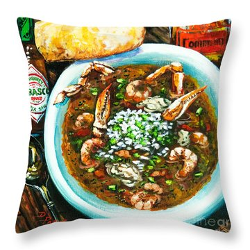Seafood Gumbo Throw Pillow